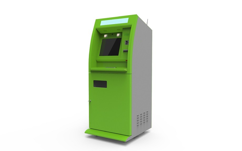 ATM Interactive Bill Payment Kiosk With Bank Card Reader / Cash Dispensser