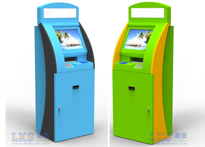 For Cash Validator Self Service Kiosk With POS Terminal Payment Information kiosk
