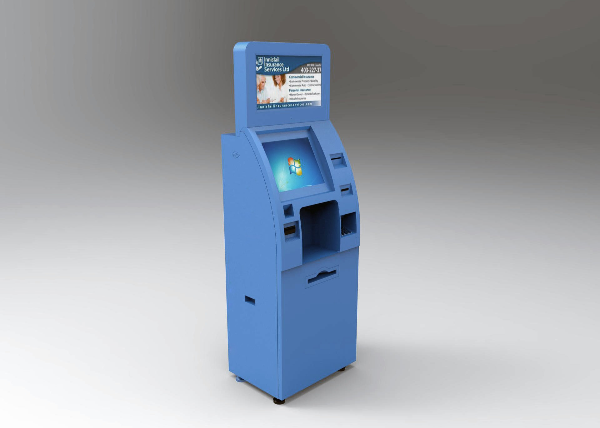 Freestanding Intelligent Multi functional Touch Self Service Kiosk With Bill Validator Acceptor