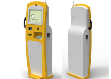 19'' Interactive Information Ticket Vending Machine , Coin Payment Kiosk