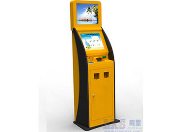 Self Service Payment & Advertising Dual Touch Screen Money POS Kiosk