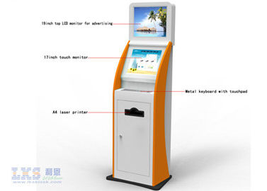 Information Release Utility Bills Retail Dual Screen Kiosk For Subway Station