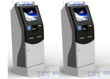 Network Barcode Reader Payment ATM Kiosk With Touch Pad Use In Shopping Mall