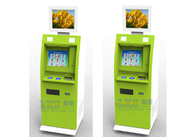 Dual Screen ATM Payment Kiosk with Cash Dispenser / Dual Screen Advertising Kiosk with Touch Screen